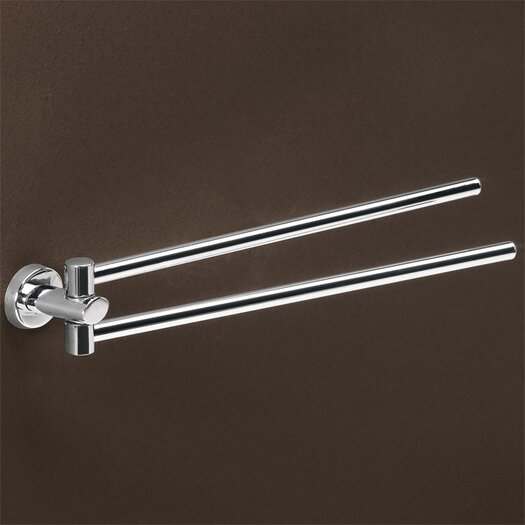 Gedy by Nameeks Texas Wall Mounted Jointed Double Towel Bar