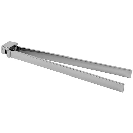 "Gedy by Nameeks Lounge 13.9"" Wall Mounted Swivel Double Towel Bar"