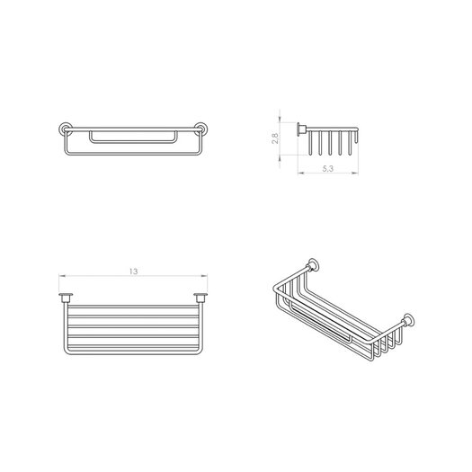 Gedy by Nameeks Wire Shower Basket