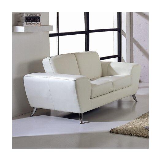 Beverly Hills Furniture Julie Leather Loveseat