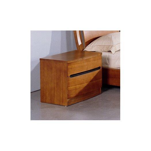 Beverly Hills Furniture Maya 2 Drawer Nightstand