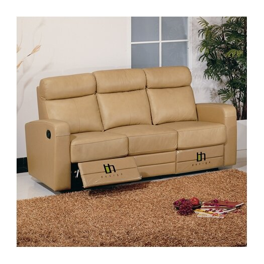 Beverly Hills Furniture Slope Leather Reclining Sofa