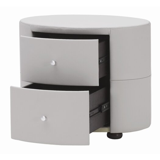 Beverly Hills Furniture Excite 2 Drawer Nightstand