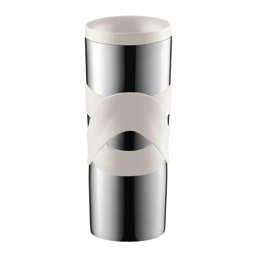 Bodum Bistro 15 Oz. Stainless Steel Travel Mug with Sip-Anywhere Lid
