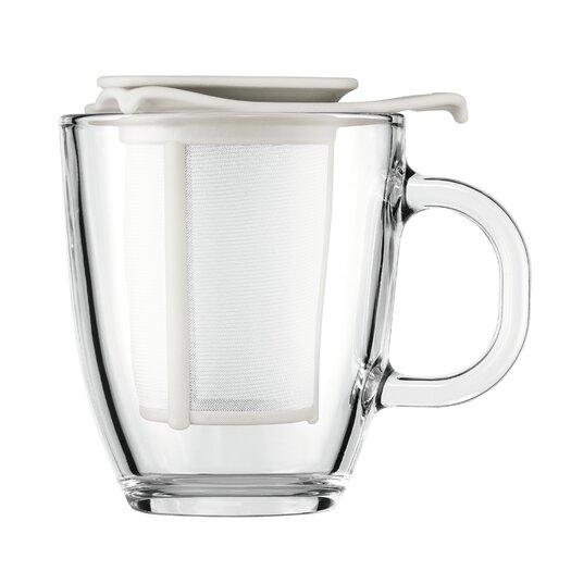 Bodum Yo-Yo Strainer and Pavina Double Wall Glass Teapot