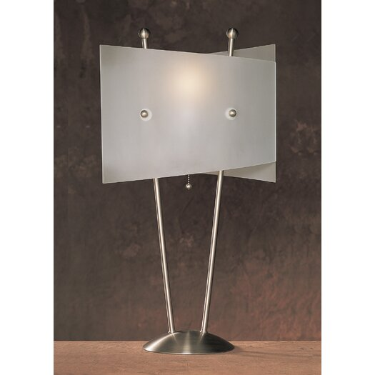 """Anthony California Metal 25.5"""" H Table Lamp with Novelty Shade"""