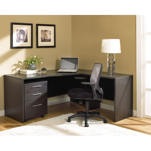 Jesper Office 100 2-Piece L-Shape Home Desk Office Suite