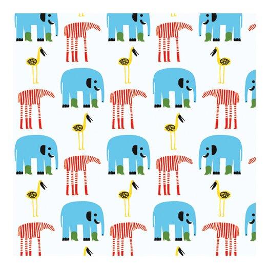 """Marimekko Marimekko II Karkulaiset 33' x 27.6"""" Elephants Wallpaper"""