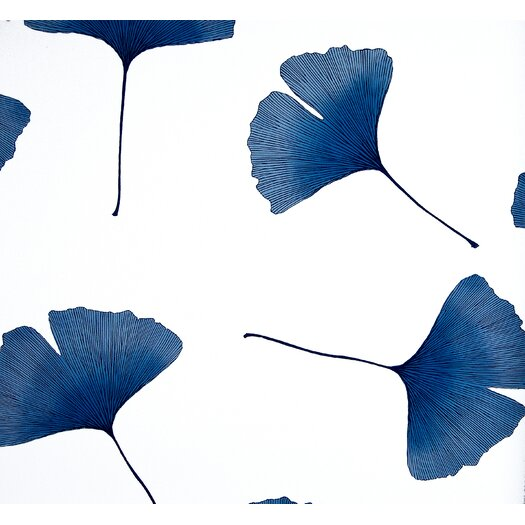 Marimekko Biloba 33' x 27'' Floral And Botanical Embossed Wallpaper