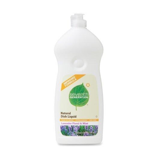 Seventh Generation Dishwashing Liquid, Natural, 25 oz., Lav/Mint