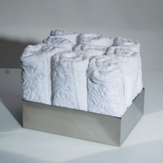WS Bath Collections Complements Saon Box for Hand Towels in Stainless Steel