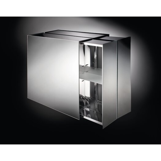 "WS Bath Collections Linea Pika 24.4"" x 22"" Surface Mount Medicine Cabinet"