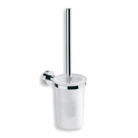 WS Bath Collections Baketo Toilet Brush Holder in Polished Chrome