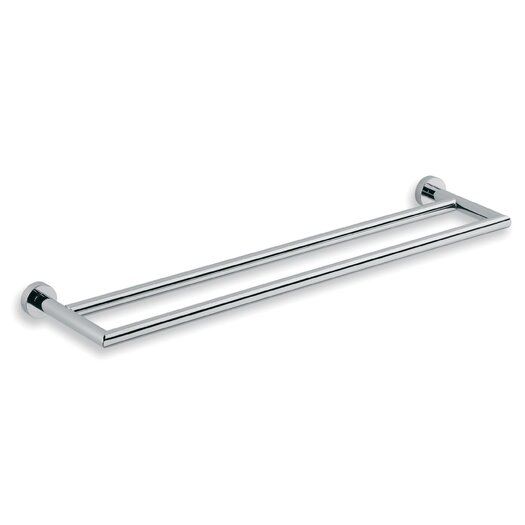 WS Bath Collections Baketo Wall Mounted Double Towel Bar