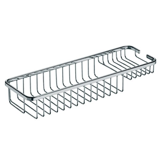 "WS Bath Collections Filo 15.7"" x 5.5"" Shower Basket in Polished Chrome"