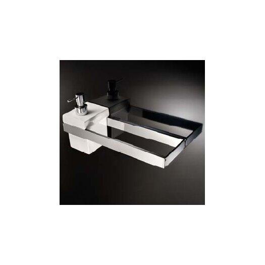WS Bath Collections Skuara Toilet Rail/Bracket in Polished Chrome