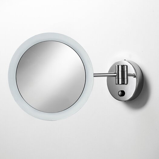 WS Bath Collections Mirror Pure Mevedo Twistable 3X Magnifying Makeup Mirror with Lighting