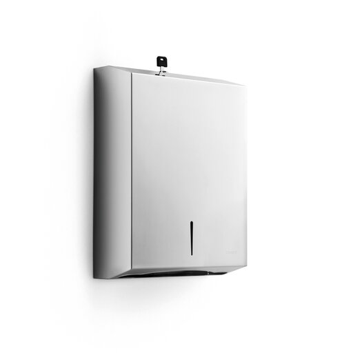 """WS Bath Collections Otel 3.9"""" x 11"""" Wal Mount Paper Towel Dispenser in Stainless Steel"""