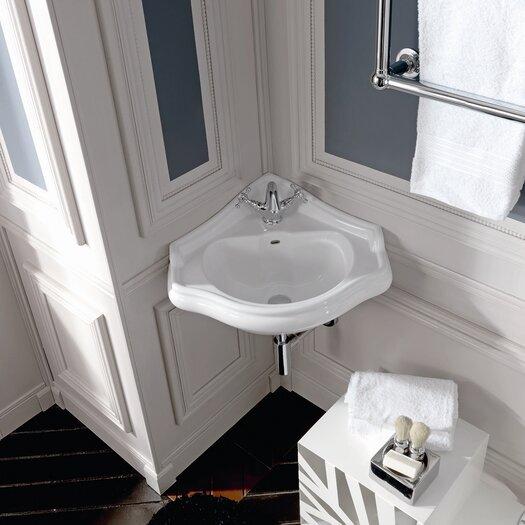 WS Bath Collections Kerasan Retro Wall Mounted Bathroom Corner Sink