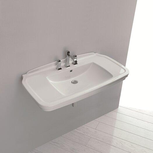 WS Bath Collections Ceramica Valdama Nova Wall Mounted / Vessel Bathroom Sink
