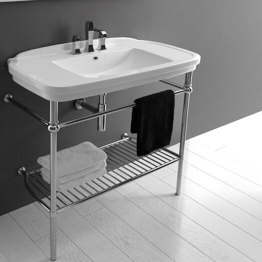 WS Bath Collections Ceramica Nova Wall Mounted / Vessel Bathroom Sink