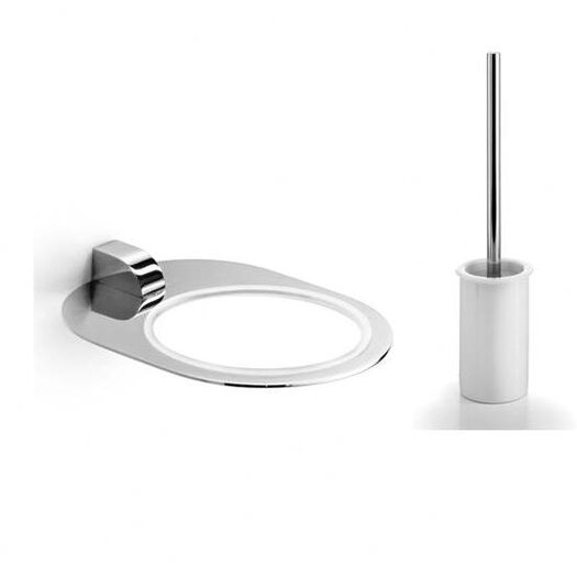 WS Bath Collections Muci Toilet Brush Holder and Toilet Brush