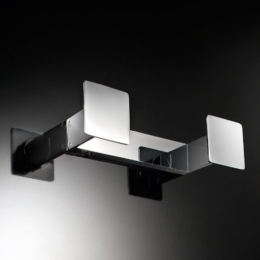 WS Bath Collections Skuara Wall Mounted Double Hook