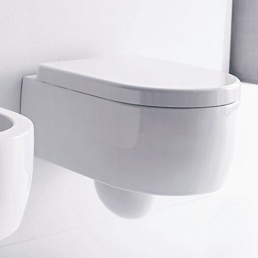 Kerasan Flo Wall Mounted Elongated 1 Piece Toilet Product Photo