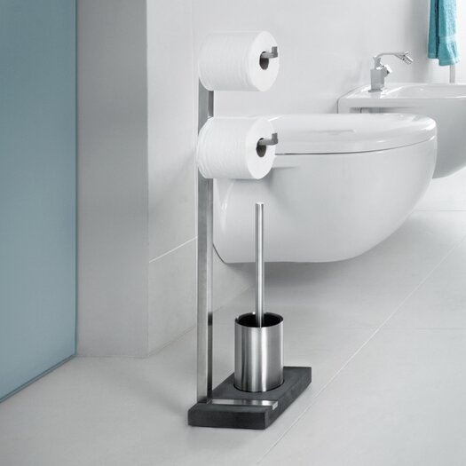 Blomus Menoto Freestanding Toilet Paper Stand & Brush