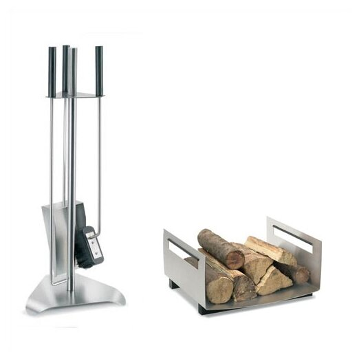 Blomus Chimo 3 Piece Stainless Steel Fireplace Tool Set