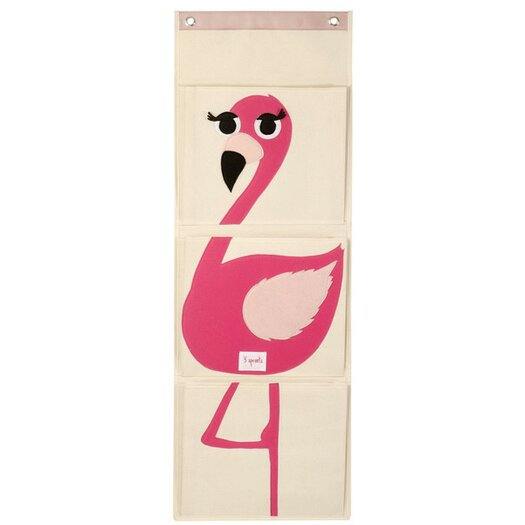 3 Sprouts Flamingo Wall Toy Organizer