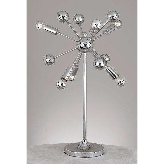 "AF Lighting Supernova 25"" H Table Lamp with Globe Shade"