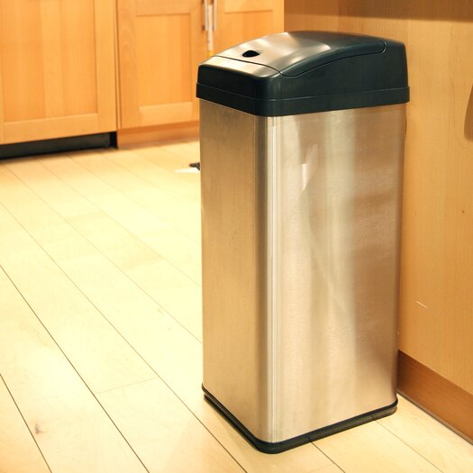 iTouchless 13 Gallon Extra-Wide Opening Touchless Trash Can