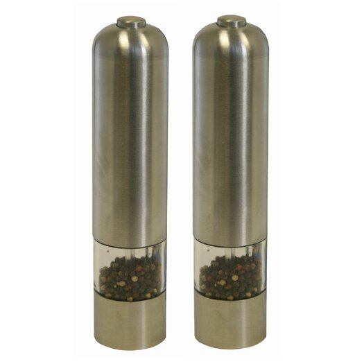 iTouchless Automatic Pepper & Salt Grinder in Brushed Stainless Steel