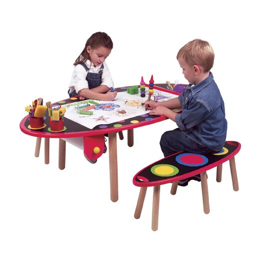 ALEX Toys My Room Kid's 3 Piece Table and Bench Set