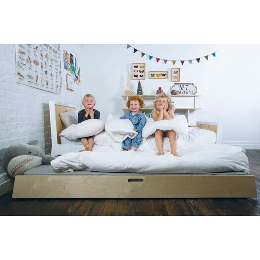 Oeuf Sparrow Twin Sleigh Customizable Bedroom Set