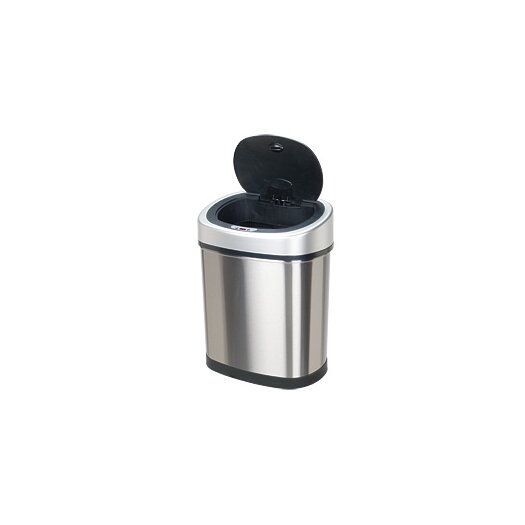 Nine Stars 11.8-Gal Stainless Steel Motion Sensor Trash Can