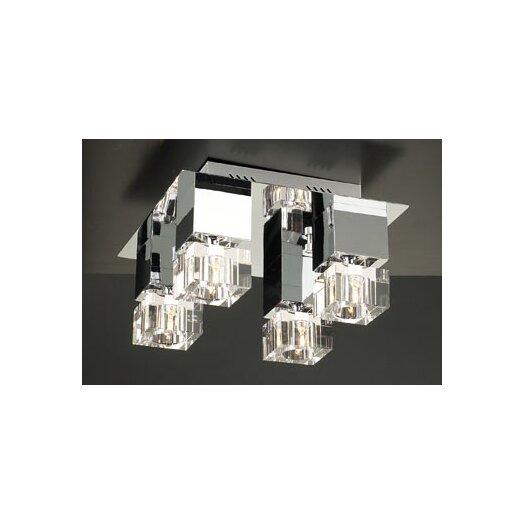 PLC Lighting Charme 4 Light Semi Flush Mount