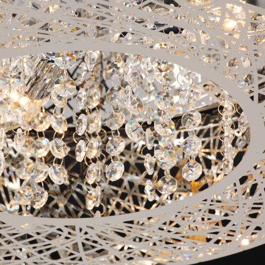 PLC Lighting Nest 3 Light Flush Mount