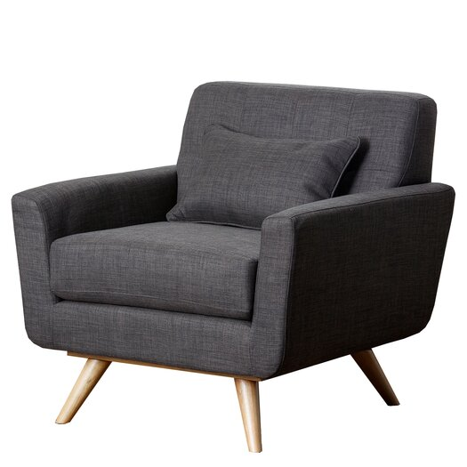 Abbyson Living Paisley Tufted Fabric Arm Chair