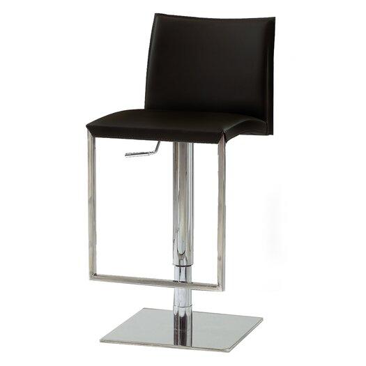 Bellini Modern Living Dixon Adjustable Height Swivel Bar Stool with Cushion