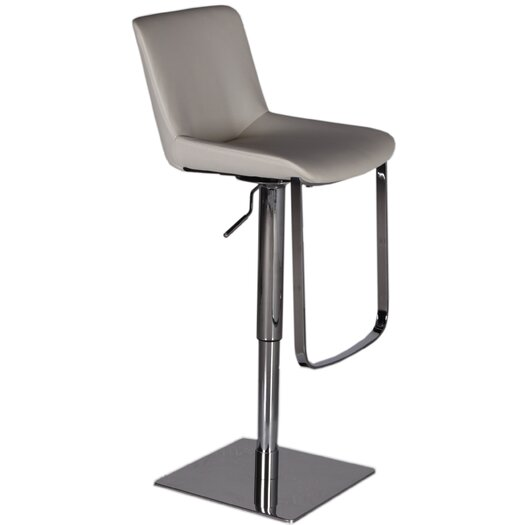 Bellini Modern Living Celeb Adjustable Height Swivel Bar Stool with Cushion