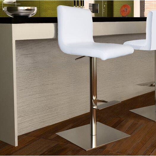 Bellini Modern Living Georgio Adjustable Height Swivel Bar Stool with Cushion