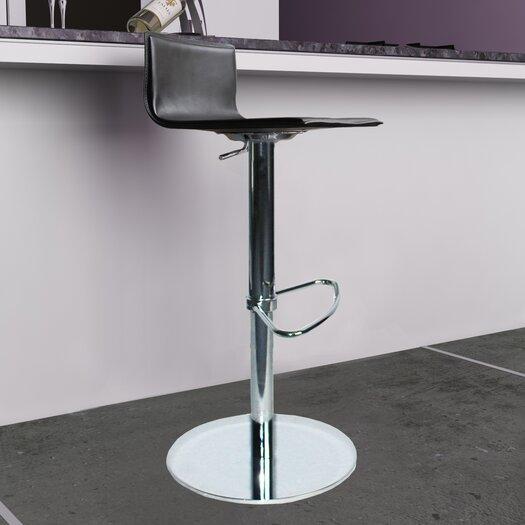 Bellini Modern Living Paula Adjustable Height Swivel Bar Stool with Cushion