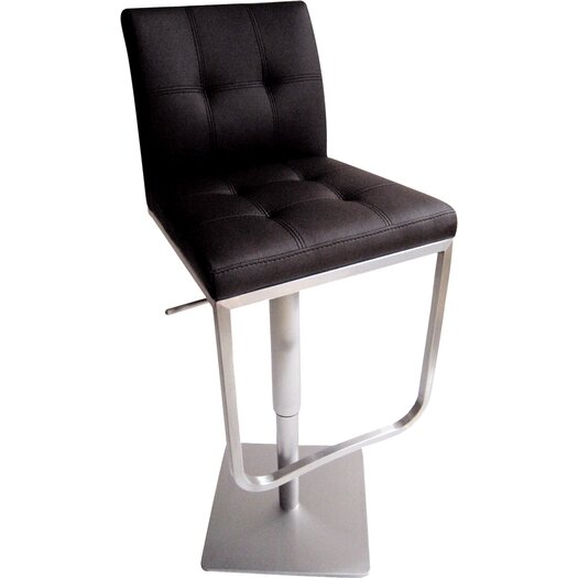 Bellini Modern Living Ferrera Adjustable Height Swivel Bar Stool with Cushion