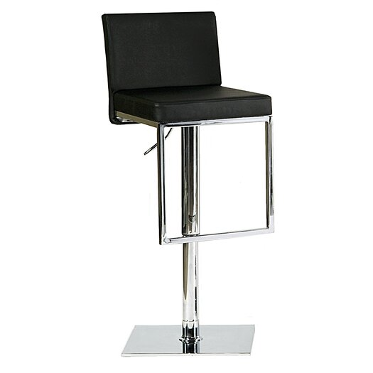 Bellini Modern Living Ann Adjustable Height Swivel Bar Stool with Cushion