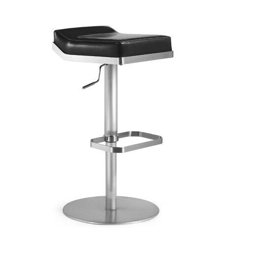 Bellini Modern Living Dino Adjustable Height Swivel Bar Stool with Cushion