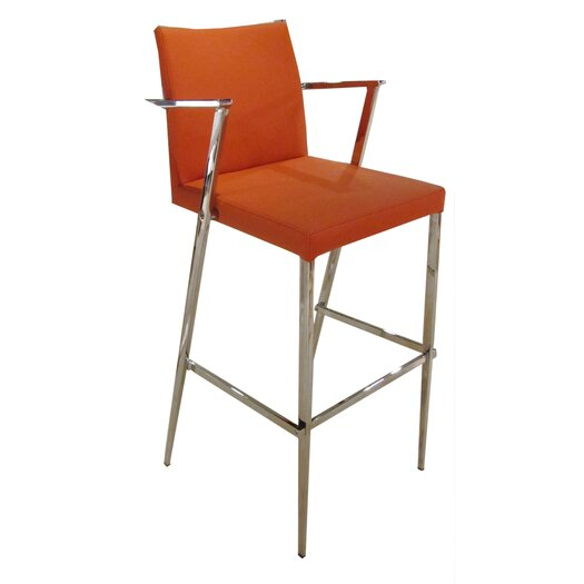 "Bellini Modern Living Kingston 25"" Bar Stool with Cushion"
