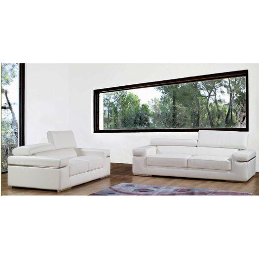 Bellini Modern Living Emilia Leather Sofa