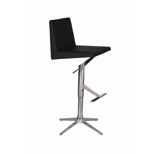 Bellini Modern Living Ethan Adjustable Height Swivel Bar Stool with Cushion